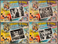 "Movie Posters:Musical, Singin' in the Rain (MGM, 1952). Mexican Lobby Cards & Trimmed Mexican Lobby Cards (4) ( ""13 x 17' & 12"".5 X 17""). Musical.... (Total: 4 Items)"