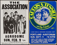 "The Association and Other Lot (Late 1960s). Concert Window Cards (2) (14"" X 22""). Rock and Roll. ... (Total: 2..."