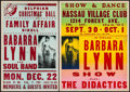 "Movie Posters:Rock and Roll, Barbara Lynn Lot (1966/1969). Concert Window Cards (2) (14"" X 22"",17"" X 22""). Rock and Roll.. ... (Total: 2 Items)"