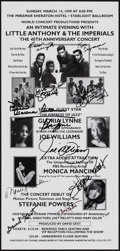 Movie Posters:Rock and Roll, Little Anthony & The Imperials at the Miramar Sheraton Hotel(World Concert Productions, 1999). Autographed 40th Anniversary...