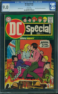 DC Special #2 - BRAD SQUARED COLLECTION (DC, 1969) CGC VF/NM 9.0 White pages