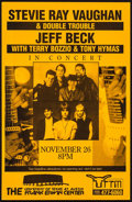 "Movie Posters:Rock and Roll, Stevie Ray Vaughan & Jeff Beck at The Frank Irwin Center (University of Texas, 1989). Concert Poster (11"" X 17""). Rock and R..."