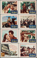 """Movie Posters:Western, Rocky Mountain (Warner Brothers, 1950). Lobby Card Set of 8 (11"""" X 14""""). Western.. ... (Total: 8 Items)"""