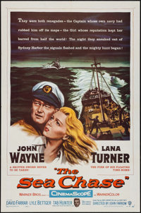 "The Sea Chase (Warner Brothers, 1955). One Sheet (27"" X 41""). War"