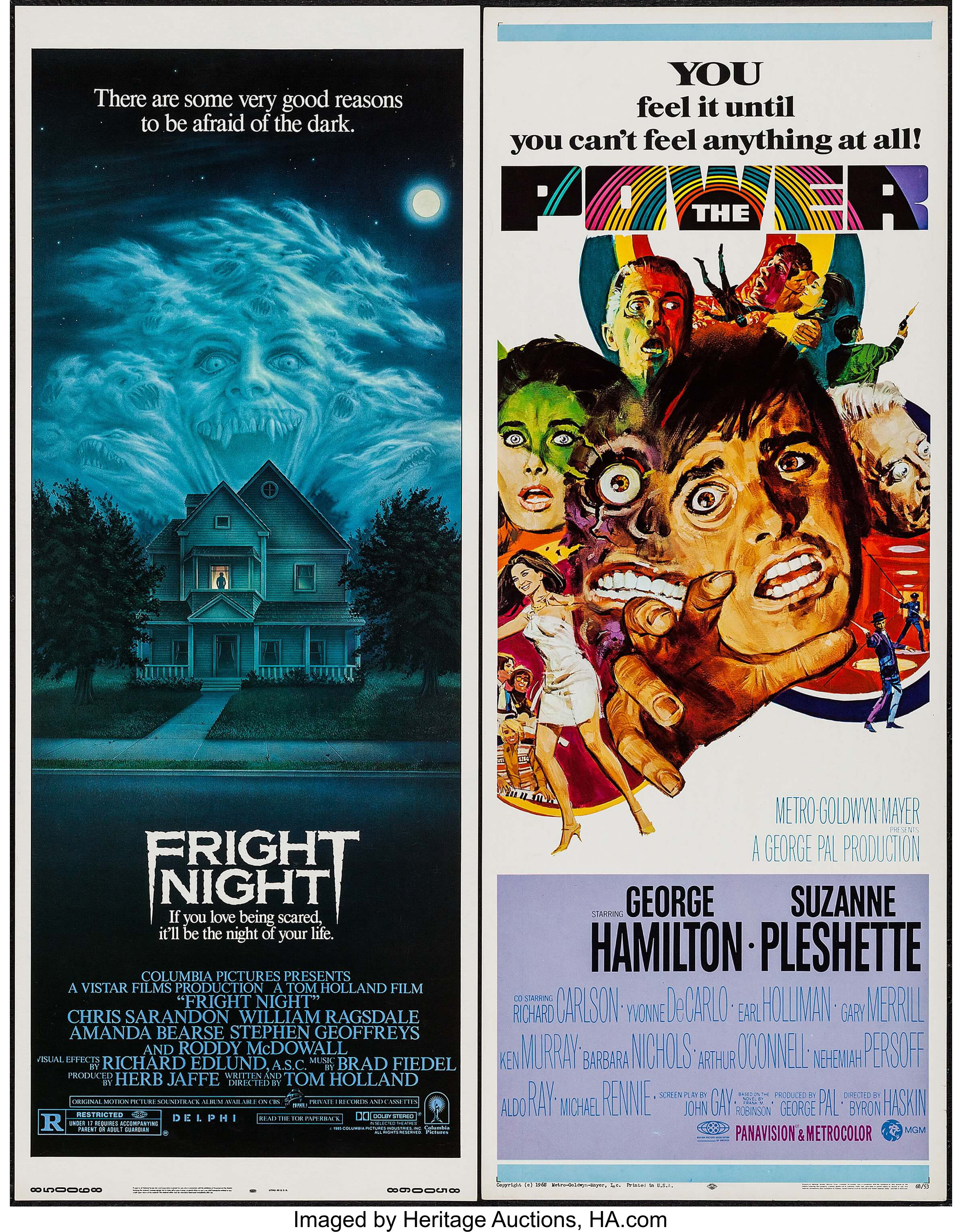 Fright Night & Others Lot (Columbia, 1985)  Inserts (3) (14