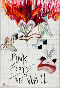 "Pink Floyd: The Wall (Harvest Records, 1979). Album Poster (38"" X 43""). Rock and Roll"