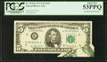 Error Notes:Foldovers, Fr. 1975-K $5 1977A Federal Reserve Note. PCGS About New 53PPQ.....