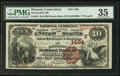 National Bank Notes:Connecticut, Winsted, CT - $10 1882 Brown Back Fr. 482 The Hurlbut NB Ch. # (N)1494. ...