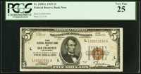 Fr. 1850-L $5 1929 Federal Reserve Bank Note. PCGS Very Fine 25