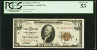 Fr. 1860-L $10 1929 Federal Reserve Bank Note. PCGS About New 53