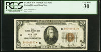 Fr. 1870-B* $20 1929 Federal Reserve Bank Star Note. PCGS Very Fine 30