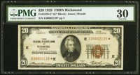 Fr. 1870-E* $20 1929 Federal Reserve Bank Star Note. PMG Very Fine 30
