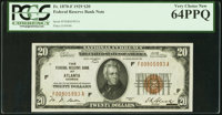 Fr. 1870-F $20 1929 Federal Reserve Bank Note. PCGS Very Choice New 64PPQ