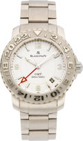 Timepieces:Wristwatch, Blancpain Very Fine Limited Edition 18k White Gold GMT Automatic, No. 33 of 33. ...