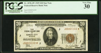 Fr. 1870-J* $20 1929 Federal Reserve Bank Note. PCGS Very Fine 30
