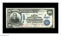 National Bank Notes:Tennessee, Knoxville, TN - $10 1902 Date Back Fr. 618 The City NB Ch. #(S)3837. A high grade example with bold red signatures. The...