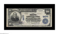National Bank Notes:Virginia, Bristol, VA - $10 1902 Plain Back Fr. 627 The Dominion NB Ch. #4477. A solid Very Fine+ from Bristol's sole issuer...