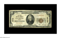 National Bank Notes:Virginia, Strasburg, VA - $20 1929 Ty. 1 The First NB Ch. # 8746. A toughnote from a two-bank town. Unfortunately, an attempt to...