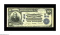 National Bank Notes:Virginia, Winchester, VA - $10 1902 Plain Back Fr. 625 The Shenandoah ValleyNB Ch. # (S)1635. This note exhibits strong embossin...