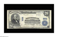 National Bank Notes:Wisconsin, Fond Du Lac, WI - $20 1902 Plain Back Fr. 658 First-Fond Du Lac NB Ch. # 555. The signatures of J.L. Gormican and Ernst ...