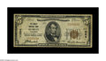 National Bank Notes:Wisconsin, Hurley, WI - $5 1929 Ty. 1 The Hurley NB Ch. # 11594. The only denomination issued from here, with this the sole institu...