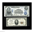 National Bank Notes:Wisconsin, A Pair of Milwaukee Nationals.. Milwaukee, WI - $5 1902 Plain Back Fr. 606 The National Bank of Commerce Ch. # 6853 ... (Total: 2 notes)