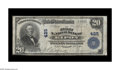 National Bank Notes:Wisconsin, Ripon, WI - $20 1902 Plain Back Fr. 650 The First NB Ch. # 425. Black pen signature of Cashier W.R. Dysart and a faded b...