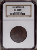 Large Cents: , 1804 1C MS63 Brown NGC. NGC Census: (14/17). Mintage: 96,500. (#1504)...