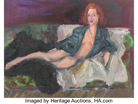 Rainer Fetting (b. 1949) Elizabeth, 1988 Oil on canvas 60 x 79 inches (152.4 x 200.7 cm) Signed, titled, dated, and ...
