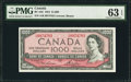 Canadian Currency: , BC-44d $1000 1954.. ...