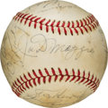 Baseball Collectibles:Balls, 1970's New York Yankees Old Timer's Day Signed Baseball withDiMaggio, Mantle, Maris.. ...