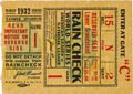 Baseball Collectibles:Tickets, 1932 World Series Game One Ticket Stub. ...