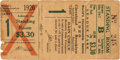 Baseball Collectibles:Tickets, 1920 World Series Game Four Ticket Stub. ...