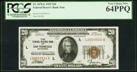 Fr. 1870-L $20 1929 Federal Reserve Bank Note. PCGS Very Choice New 64PPQ