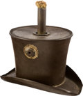 """Political:3D & Other Display (pre-1896), Benjamin Harrison: """"Grandfather's Hat"""" Parade Torch...."""
