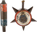 Political:3D & Other Display (pre-1896), Colorful 19th Century Tin Campaign Torches....