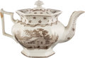Political:3D & Other Display (pre-1896), William Henry Harrison: Columbian Star Teapot....