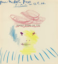 Fine Art - Work on Paper:Drawing, Pablo Picasso (1881-1973). Drawing for Milton Fox, 1966.Crayon on paper. 11-3/4 x 10-3/4 inches (29.8 x 27.3 cm) (s...