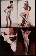 Non-Sport Cards:Lots, 1950's Exhibits Pin Up Card Collection (134) - Uncirculated. ...