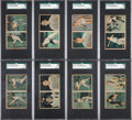 Baseball Cards:Sets, 1951 Berk Ross Panel High Grade Complete Set (36) Plus Original Boxes...