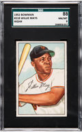 Baseball Cards:Singles (1950-1959), 1952 Bowman Willie Mays #218 SGC 88 NM/MT 8....