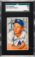 Baseball Cards:Singles (1950-1959), 1952 Bowman Mickey Mantle #101 SGC 84 NM 7....