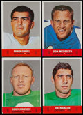 Football Cards:Sets, 1968 Topps Stand-Ups Complete Set (22) With Extras....
