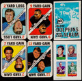 Football Cards:Sets, 1969 Topps 4-In-1 Football Collection & 1971 Topps Football Game Set (52). ...