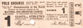 Baseball Collectibles:Tickets, 1911 World Series Game One Ticket Stub. ...