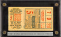 Baseball Collectibles:Tickets, 1923 World Series Game Five Ticket Stub - First New York YankeesWorld Series. ...