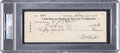 Baseball Collectibles:Others, 1936 Babe Ruth Double Signed Check. ...