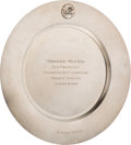 Baseball Collectibles:Others, 1958 Ralph Houk New York Yankees vs. Boston Red Sox Old-Timers' DaySterling Silver Presentation Plate from The Ralph Houk Col...