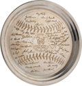 Baseball Collectibles:Others, 1953 New York Yankees Silver Presentation Tray from The Ralph HoukCollection. ...