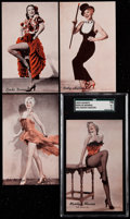 "Non-Sport Cards:Sets, 1950's Exhibits ""Hollywood Dancers"" Complete Set (16)...."
